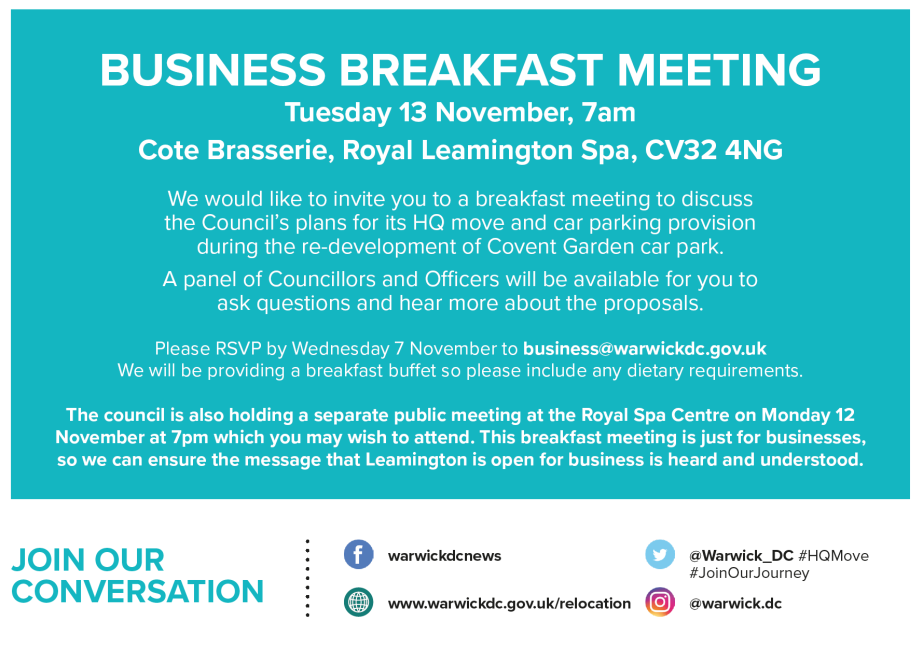Upcoming Covent Garden Meetings