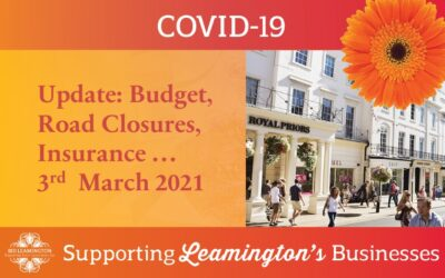Business Update: Budget, Road Closures, Insurance