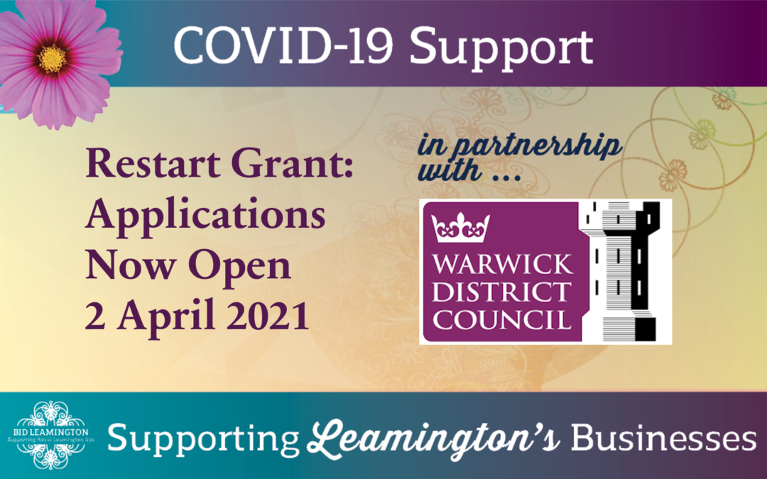 Business Update: Restart Grant – Applications Open